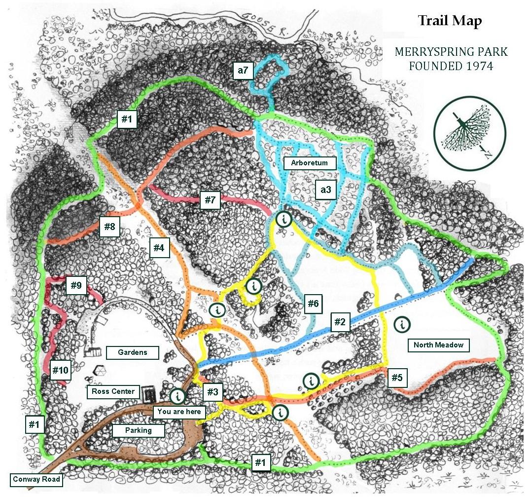 Planting Fields Arboretum Map Trails – Merryspring Nature Center Planting Fields Arboretum Map