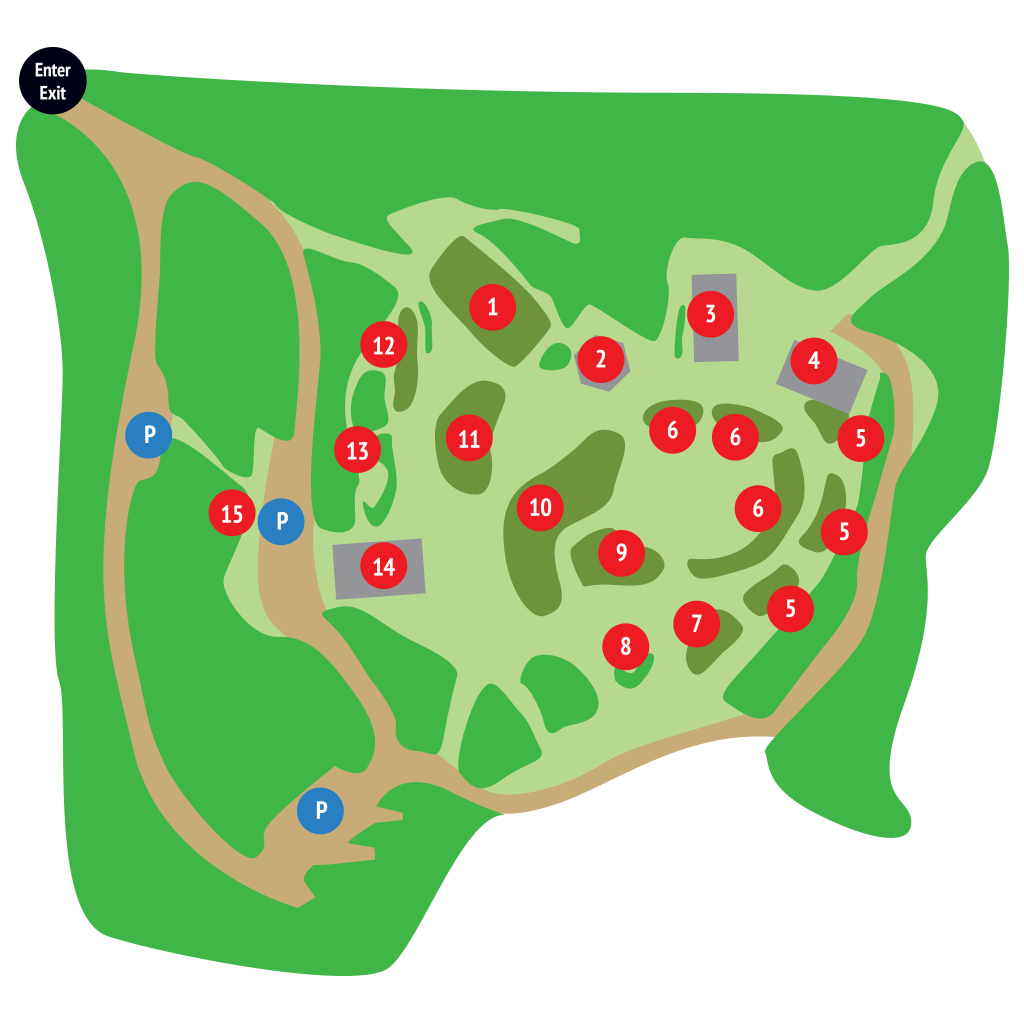 Merryspring Gardens Map - Camden, Maine