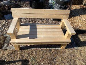 5' cedar bench