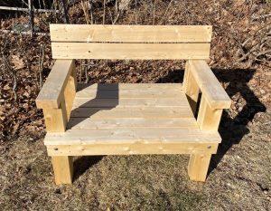 4' cedar bench
